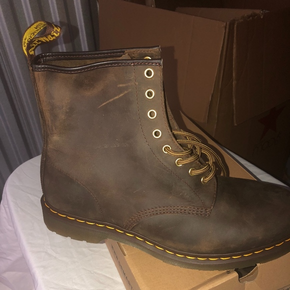 exquisite design top-rated latest top-rated real Dr. Martens 1460 Aztec Brown Crazy Horse Boot NWT